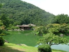 栗林公園1 掬月亭 遠景