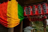 円山弁天堂の五色幕