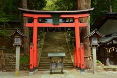 飛騨日枝神社の鳥居2
