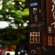 六角堂山門の千社札2