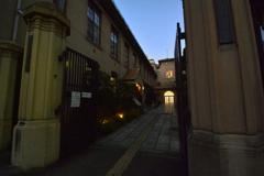 旧明倫小学校の夕暮れ