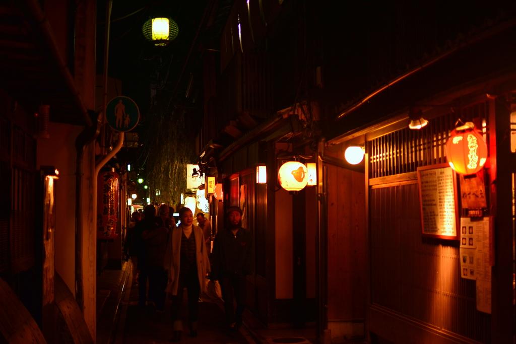 先斗町の夜 お好み焼やすべえ