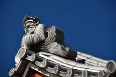 達磨寺達磨堂・鬼瓦2