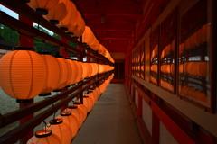 下鴨神社・楼門裏の提灯