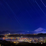 星降る富士山に見つめられる夜
