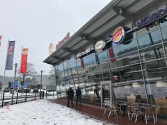 雪のアウトバーンSA