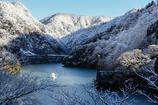 庄川峡の寒い朝 第一便