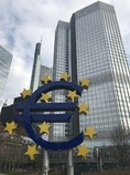 欧州中央銀行まえ