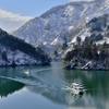冬の庄川峡 美しき舞