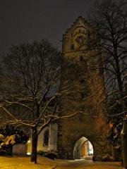 古い塔 雪の古都ラーベンスブルク
