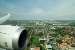 スワンナプーム国際空港着陸