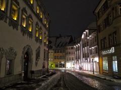 路地 雪の古都ラーベンスブルク
