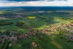 ドイツ北中部の田園風景