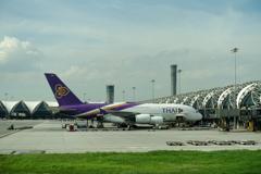 スワンナプーム国際空港 タイ航空A380