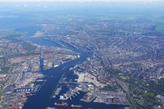 眼下に広がるアムステルダムの街