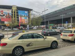 タクシーで訪問先へ@ライプツィヒ・ハレ空港