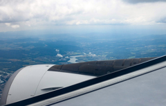 ドイツ上空からスイスへ
