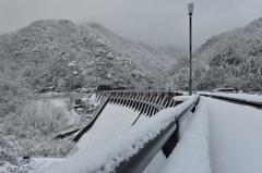 雪景色 文化財 小牧ダム
