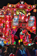 夜高行燈 ヨイヤサァ!ヨイヤサァ! @庄川観光祭