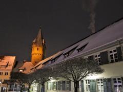 暖炉の煙 雪の古都ラーベンスブルク