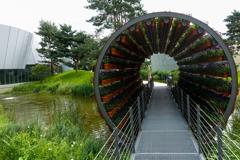 回転花鉢トンネル