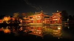 夜陰に浮かぶ平等院鳳凰堂