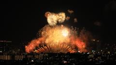 淀川花火大会もフィナーレを迎える
