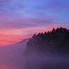 桧原湖の黎明 ~湖面を漂う朝靄