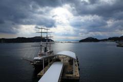 福良港から紀伊水道方面を望む