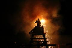 台物の花火の風景~豊橋、炎の祭典