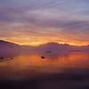 桧原湖の黎明 ~燃えるが如く