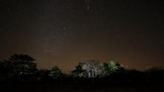 牛石ヶ原の星景