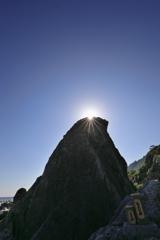 エボシ岩の光芒