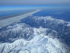 雪の立山連峰・飛行機から