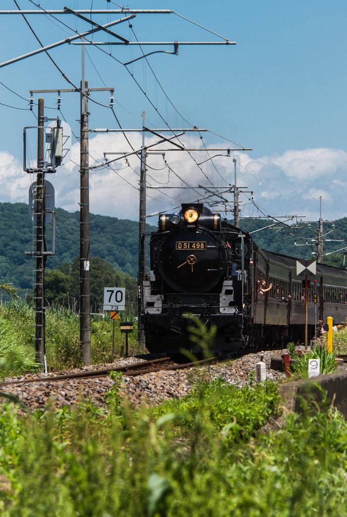 国鉄D51形蒸気機関車498号機 by ...