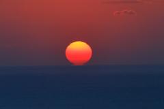 海の日の丸、千葉県九十九里、