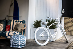 店先の自転車。