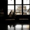 旧郵便局長室で。