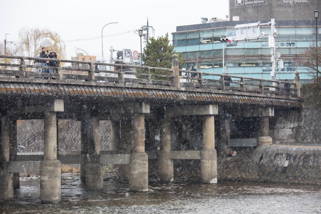 雪の三条大橋
