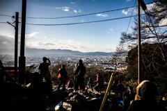 稲荷山、四ツ辻からの眺め。