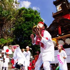 鵠沼皇大神宮例大祭(小学生中心のひょっとこ踊り)