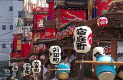鵠沼皇大神宮例大祭(山車縦列準備中)