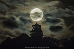 中秋の名月(岐阜城)