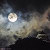 風雲岐阜城と満月