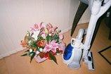 花と掃除機