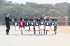 少年サッカー試合終了