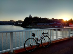 出発の朝日