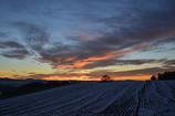雪と夕焼け1