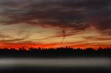 霧と夕焼け