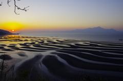 御興来海岸(おこしきかいがん)夕日